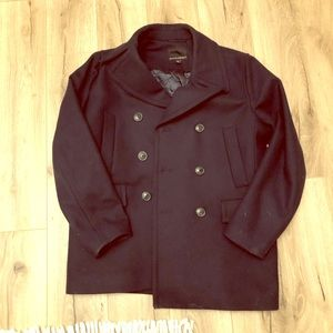 Banana republic Italian wool pea coat dock men's M